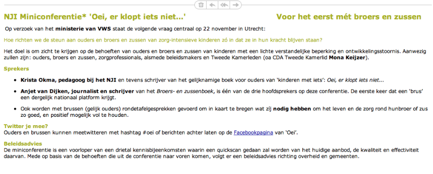NJI Miniconferentie 22 november 2013